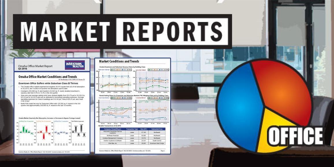 Investors Realty Inc. – Q3 2016 Omaha Office Market Report
