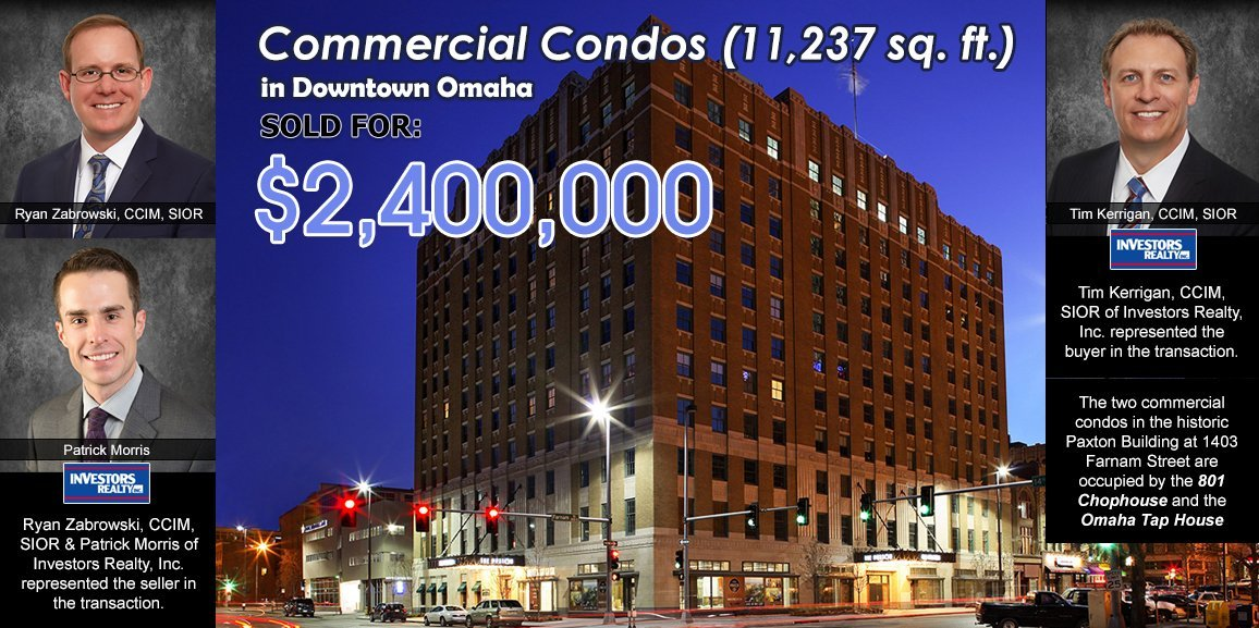 Two Commercial Condos in Historic Paxton Building Sold for $2,400,000