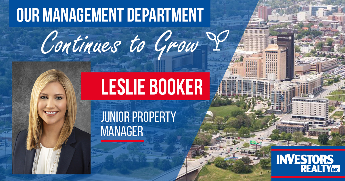 Investors Realty Welcomes Leslie Booker