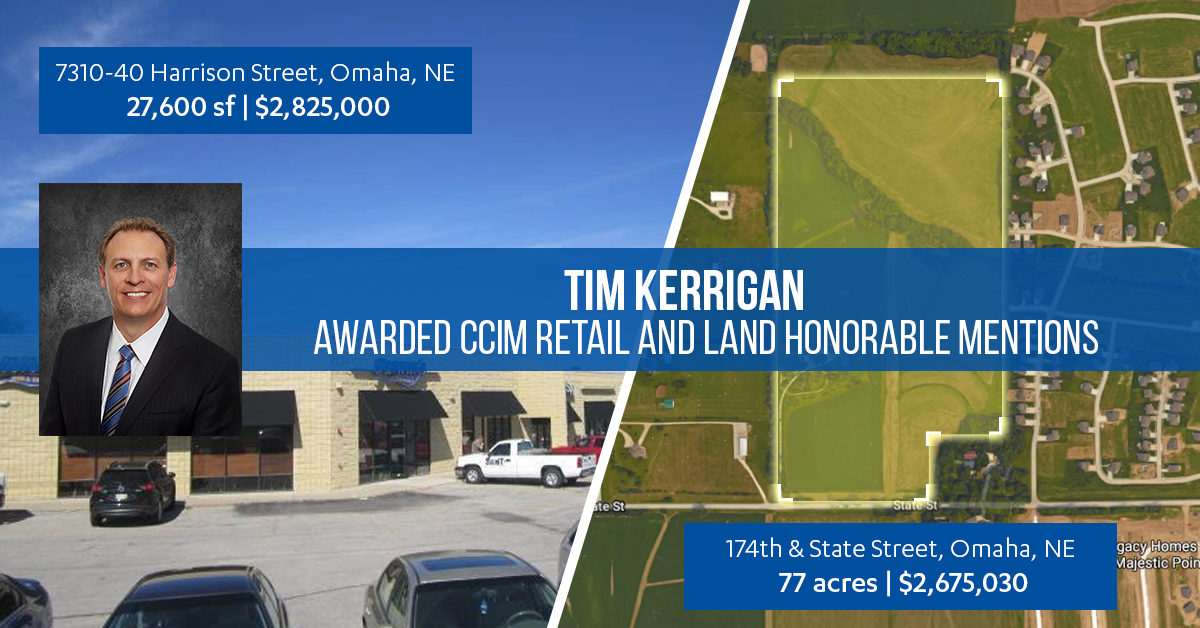 Tim Kerrigan - CCIM Award Winning Land Omaha Broker