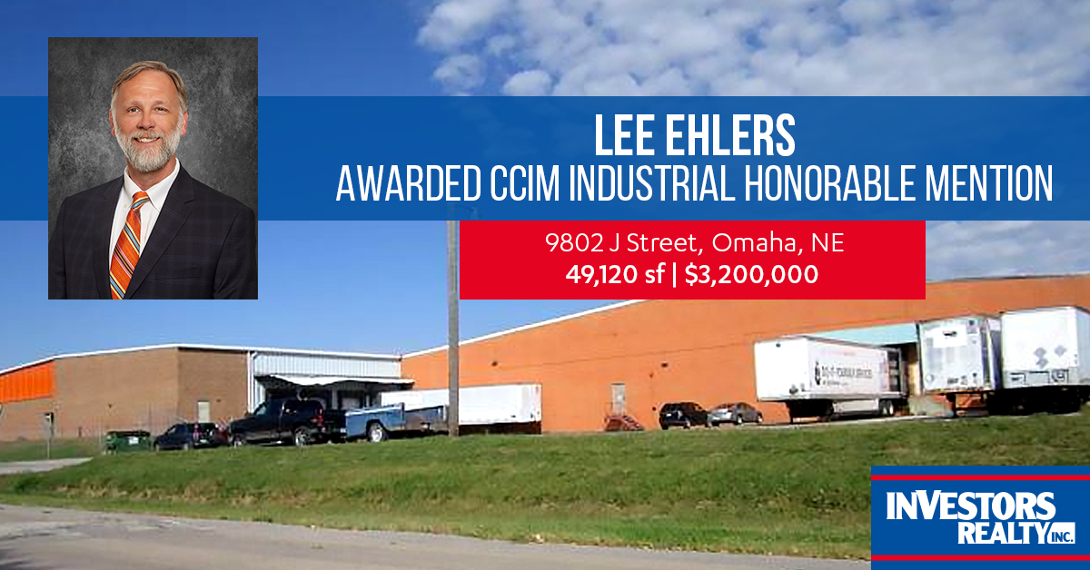 Lee Ehlers, CCIM Award Winning Industrial Broker