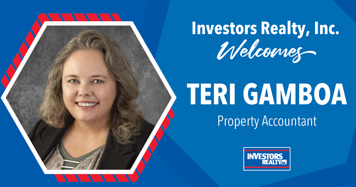 Investors Realty Welcomes Teri Gamboa