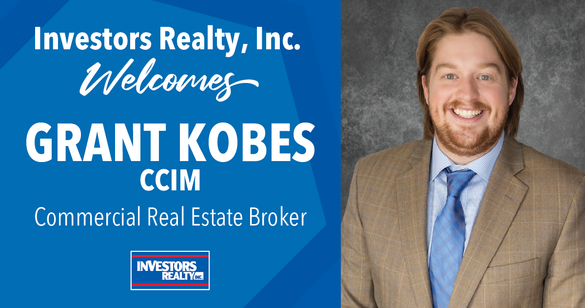 Investors Realty Welcomes Grant Kobes, CCIM