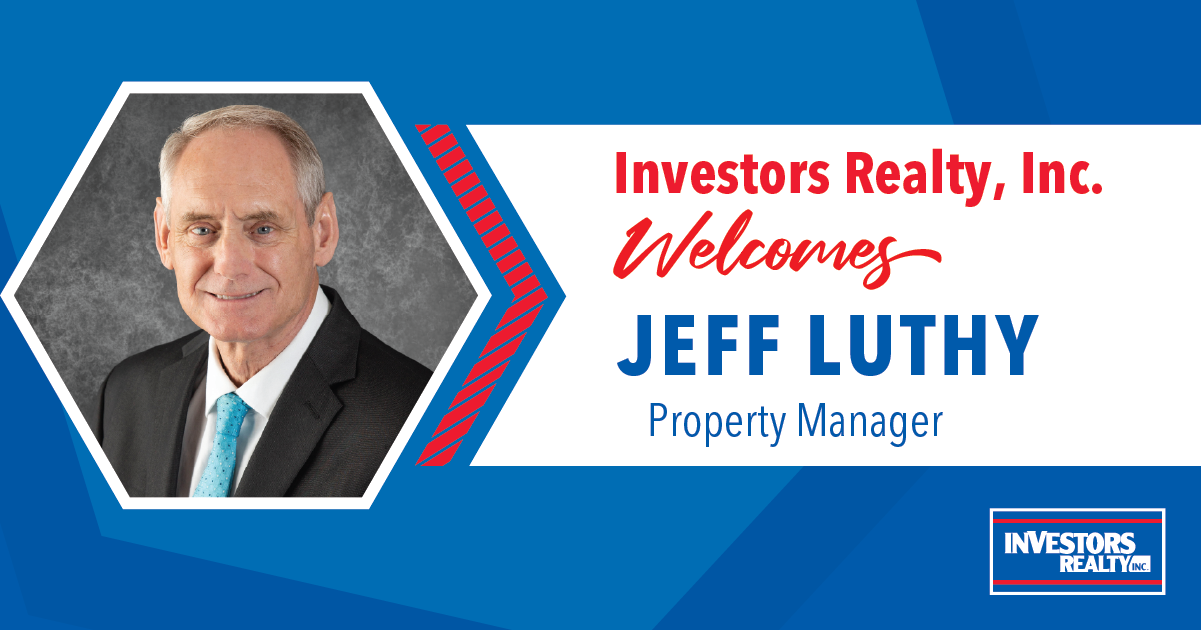 Investors Realty Welcomes Jeff Luthy