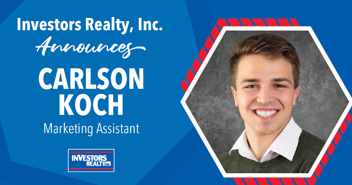 Investors Realty Announces Carlson Koch, Marketing Assistant