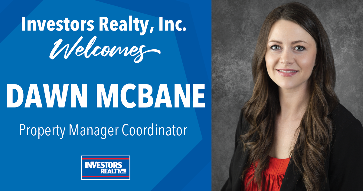 Investors Realty Welcome Dawn McBane