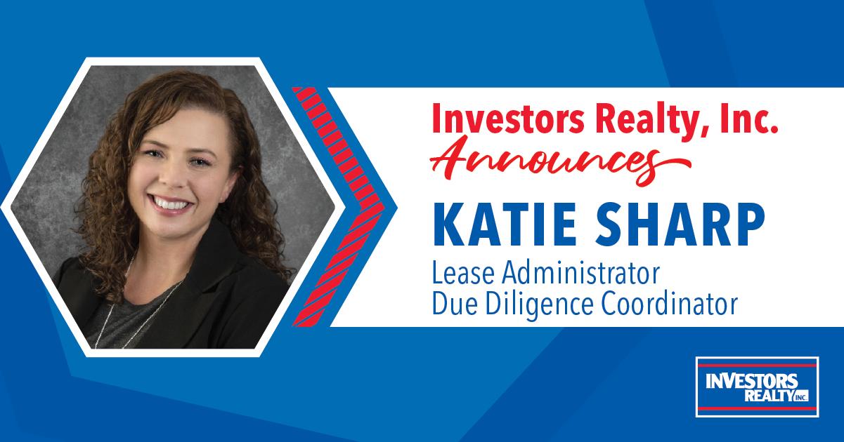 Investors Realty Celebrates Katie Sharp's Promotion