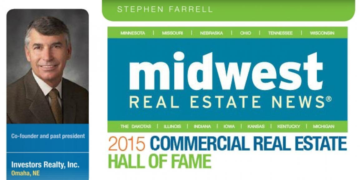 Steve Farrell Enters the 2015 Midwest Commercial Real Estate Hall of Fame