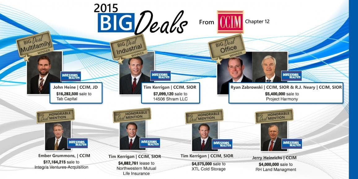 2015 CCIM BIG Deal Award Winners