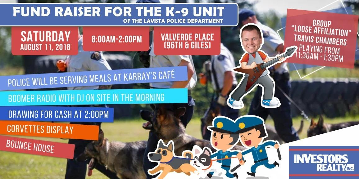 Fund Raiser for the K-9 Unit of the LaVista Police Department at Valverde Place