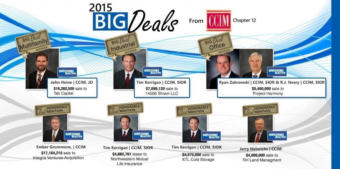 2015 CCIM BIG Deal Award Winners