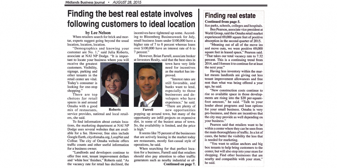 Brian Farrell Is Published in Midlands Business Journal